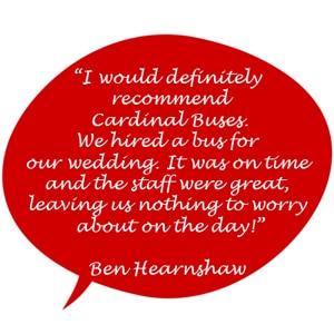 Cardinal Buses are great testimonial