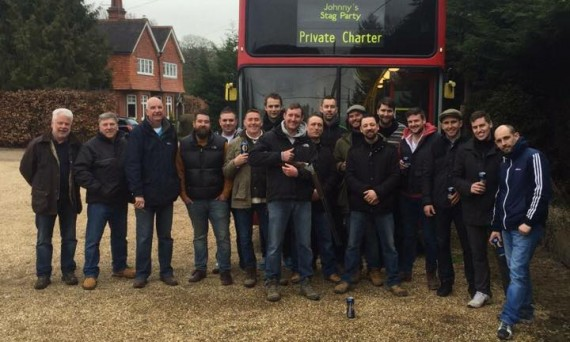 stag party bus