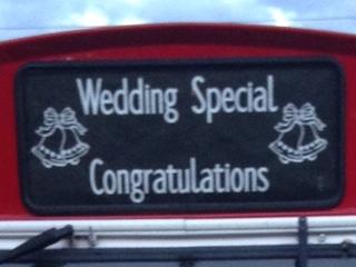 wedding bus standard blind option image